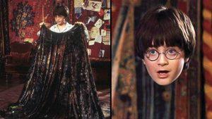 Một hình ảnh Harry Potter sử dụng áo tàng hình