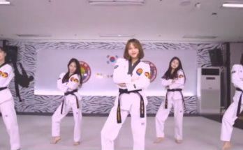 Múa Teawondo kết hợp biểu diễn của hot girl Hàn Quốc