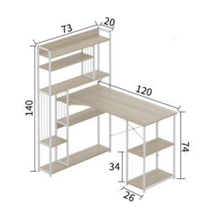 các kích cỡ của chiếc bàn học đa năng