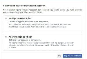 Hướng dẫn cách xóa tài khoản facebook, xóa vĩnh viễn 3