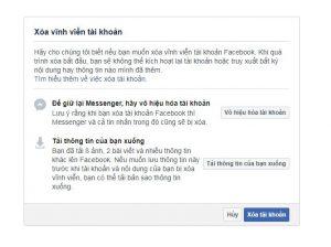 Hướng dẫn cách xóa tài khoản facebook, xóa vĩnh viễn 4