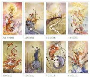 Bộ Wands  - Gậy - Lửa Trong Shadowscapes