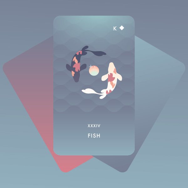 lá bài fish trong Seventh Sphere Lenormand