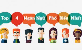 Top 4 ngôn ngữ phổ biến nhất