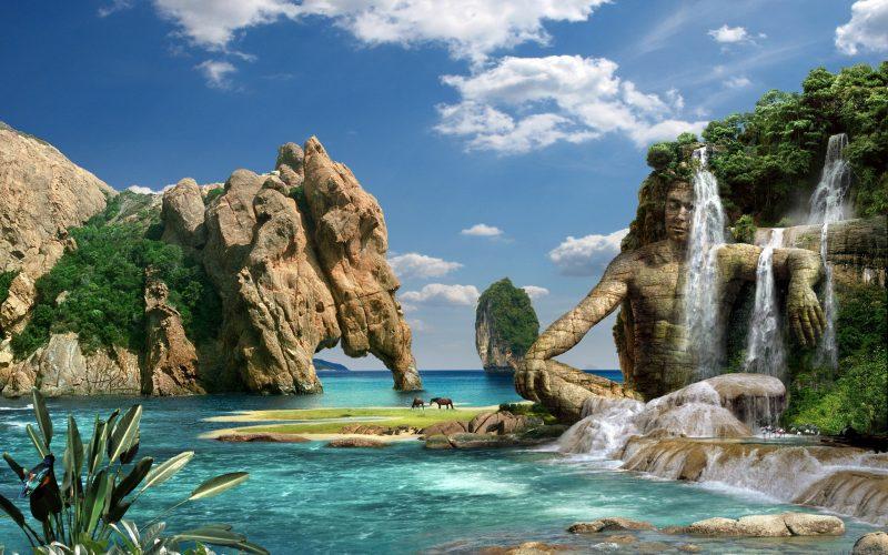 Top Hình Nền Thiên Nhiên 3D - Hình Nền Kĩ Xảo Tuyệt Đẹp